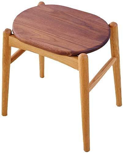 Mmyunx Hocker Holzbank chinesischen Ursprungs Bambushocker Wickeltisch Esstisch Stuhl Make-up Stuhl Make-up Hocker(Farbe: Eiche + Nussbaum)- A
