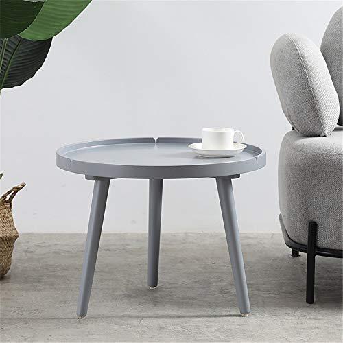 Bassi bijzettafel klein, ronde houten tafel Side Table Mini Balkon Hoektafel Moderne tafel Nachtkastje voor woonkamer slaapkamer balkon