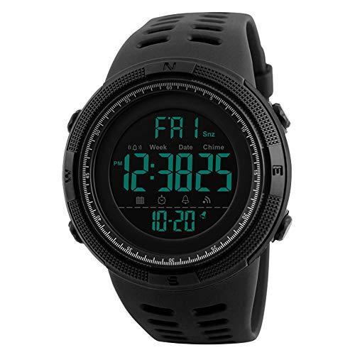 Mens Watches,SKMEI Waterproof Military Outdoor Sport Watch Men Fashion LED Digital Electronic Black Alarm Clock