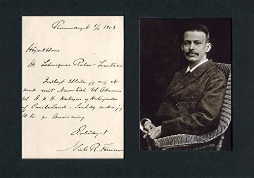 Niels Ryberg Finsen original Autogramm/Autograph/signiert