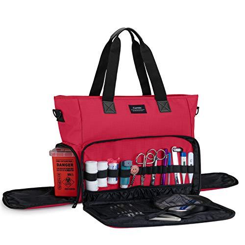 CURMIO Medizinische Tasche, Erste Hilfe Sets Aufbewahrungstasche, Tragetasche für Medizinstudent, Krankenschwester und Hausarzt, Aufbewahrungskoffer für Medizinisches...