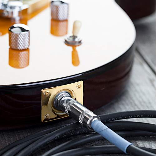 Jack Plate 3 piezas de toma de salida de pastilla de guitarra, placa de conector rectangular para guitarra eléctrica, conector de placa de salida de guitarra rectangular con 12 tornillos
