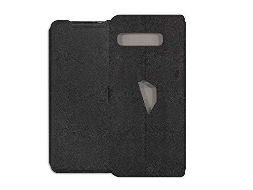 etuo Hülle für Asus ROG Phone 3 - Hülle Soft Wallet Book - Schwarz Handyhülle Schutzhülle Etui Hülle Cover Tasche für Handy