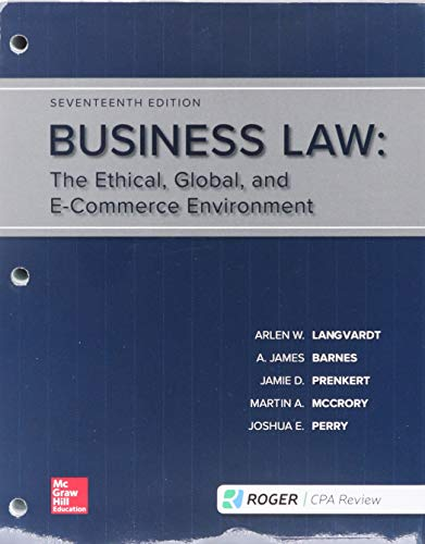 Loose-Leaf for Essentials of Business Law