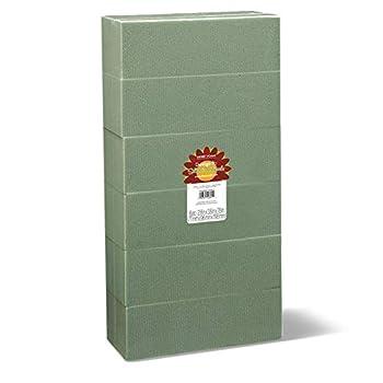 FloraCraft Floral Dry Foam 6 Piece Brick 2.6 Inch x 3.5 Inch x 7.8 Inch Green