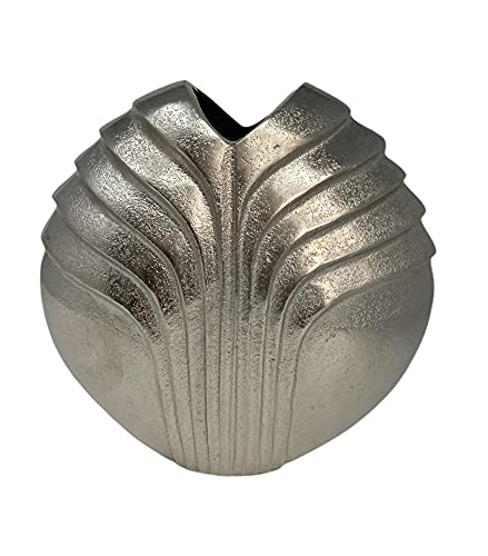 Vase Silber rund aus dem Hause Colmore Aluminium 001-21-4217-S