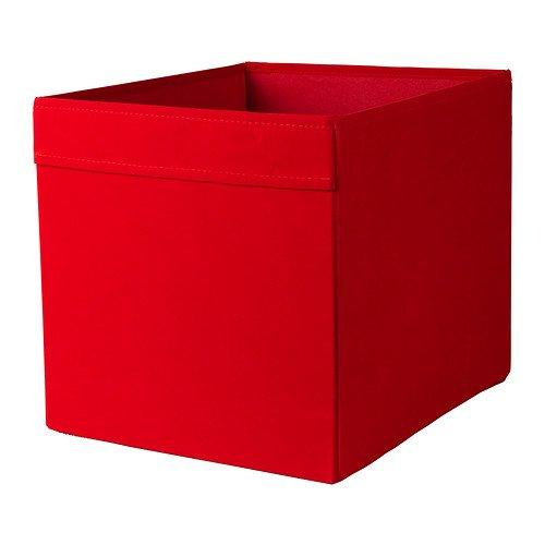 IKEA DRONA - Scatola portaoggetti per casa, ufficio, 33 x 38 x 33 cm, perfetta per tutto, colore: rosso