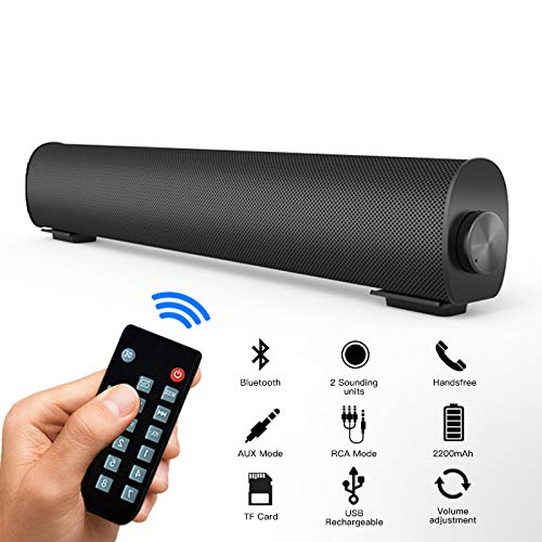 Sound Bar, Soundbar for TV Computer with Home Theater TV Triangle Speaker Bar with Remote Control, TF Home Theater Surround Sound Speakers for TV/PC/Phones/Tablets TV A