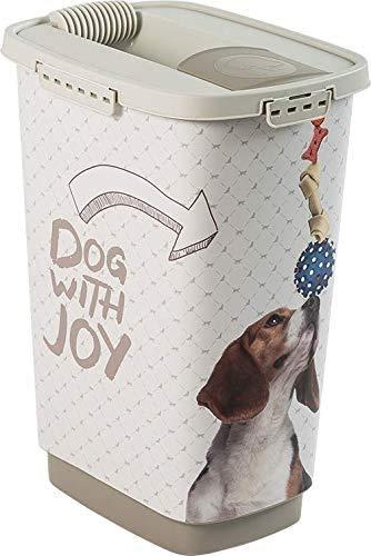 Rotho Cody Tierfutterbehälter 25l mit Deckel und Schüttvorrichtung, Kunststoff (PP) BPA-frei, anthrazit/weiss, 25l (33,0 x 25,0 x 46,3 cm)