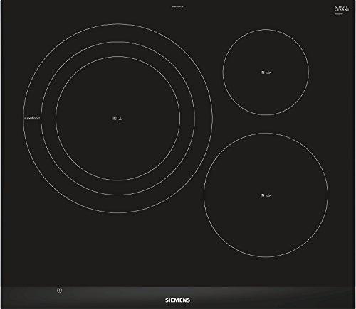 Siemens EH675LDC1E hobs Negro Integrado Con - Placa (Negro, Integrado, Con placa de inducción, 1400 W, 14,5 cm, 2200 W)