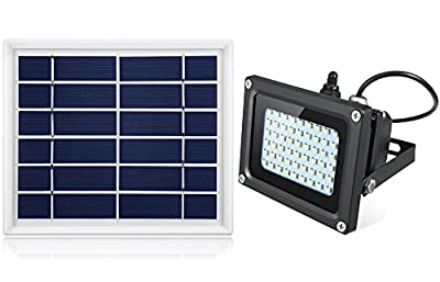 Oasity Solar LED Light – 500 Lumens – IP65 Waterproofness Rating – Perfect Solar Spotlight For Patio, Gazebo, Or Backyard