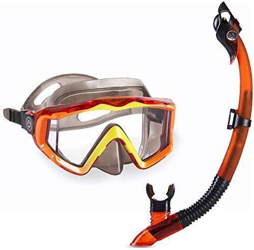 ZOUSHUAIDEDIAN Conjunto de máscara de snorkel Engranaje de snorkeling, gafas de natación  Set de snorkel seco y máscara para adultos anti niebla de 180 grados, vista al mar, muy adecuado para los ent