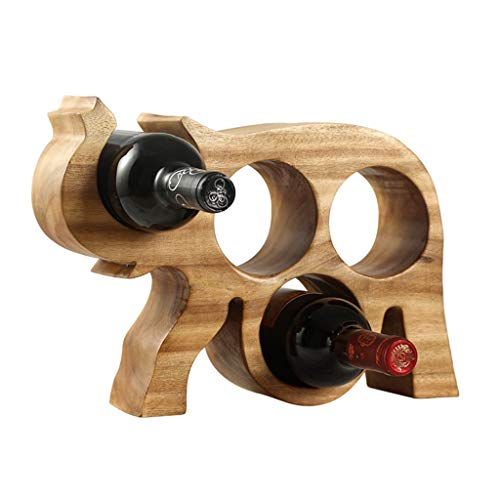 ZRJ Estante De Vino Pequeño Vino Botella De Vino Titular De La Botella De Vino Hold 4 Botellas De Vino para La Cocina Despensa Gabinete