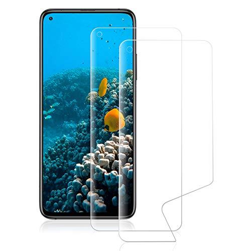 ROVLAK Schutzfolie für Xiaomi Mi 10T Pro Screen Protector [2-Pack] Soft Hydrogel Folie HD Klarsicht Anti-Kratzer Vollflächiger Displayschutz Flexible Schutzfolie für Xiaomi Mi 10T Pro Smartphone