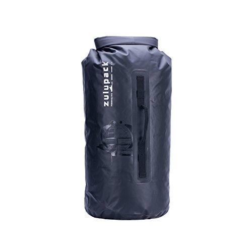 Zulupack Tube 45 L en Nylon Balistique 420 D Tube étanche pour Protection Matériel Black 55x30CM 45 L