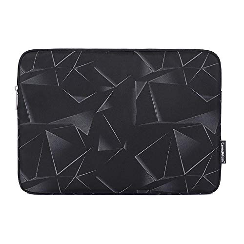 OWIME Portable Laptop Bag 11 12 13 14 15 15.6 Sleeve Case For Macbook Air Pro (Color : Black, Size : 12-inch)