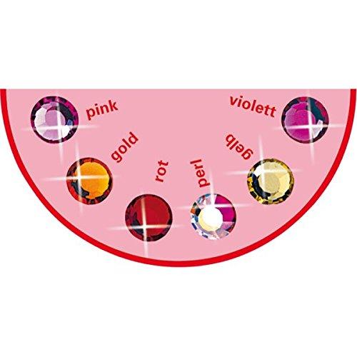 6 Stück Brilident Kristalle, Crystal, Ø ca. 1,8 mm, zum Aufkleben, Zahnschmuck Stein, Zahnschmucksteine Set, 6 sortierte rötliche Farben, bunt, kristall klar, 6er Strasssteine