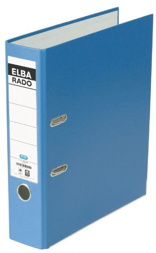 ELBA 100022612 veredelter Kunststoff-Ordner rado brillant 8 cm breit DIN A4 blau