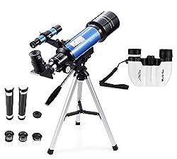 MaxUSee 70mm Refractor Telescope