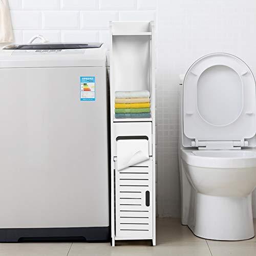 Armario alto para almacenamiento de baño, 3 en 1 baño, toalla estrecha y alta, organizador de almacenamiento de champú, soporte para papel higiénico, estante de almacenamiento para inodoro de baño