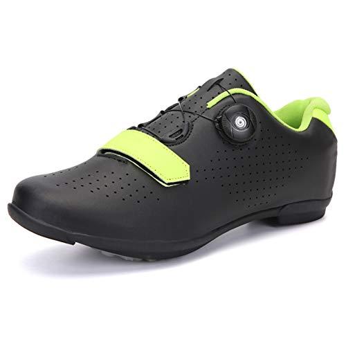 ZYSM Zapatillas de Ciclismo de montaña para Hombre, compatibles con Tacos SPD, Buenas para Bicicleta de Spinning, Todoterreno y MTB,Black b,36
