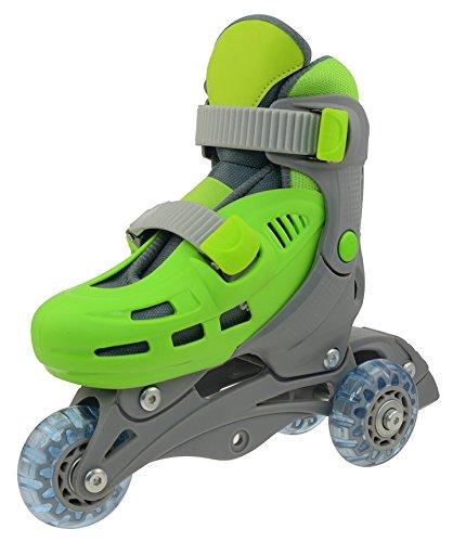 SULOV Kinder Rollschuhe Triskate, Grün, XS