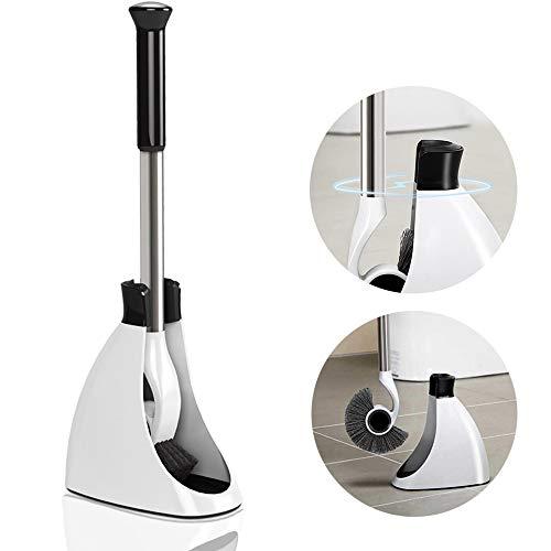 Queta WC Bürste mit Halter, Neueste Toilettenbürste Magnetische Haltersatz Langer Stiel klobürste für Badezimmer Gäste-WC Trockenhalter klobesen