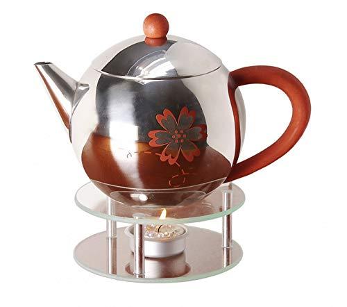 Stövchen aus Glas für Teekanne