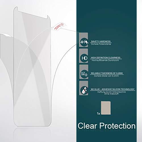 MoEx 2X Huawei Y550   Schutzfolie Klar Display Schutz [Crystal-Clear] Screen Protector Bildschirm Handy-Folie Dünn Displayschutz-Folie für Huawei Ascend Y550 Displayfolie - 6