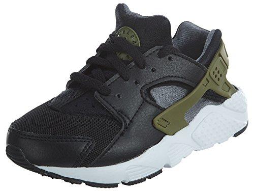 Nike Huarache Run PS, Black/Palm Green/Dark Grey - M Kinder, EU 31.5