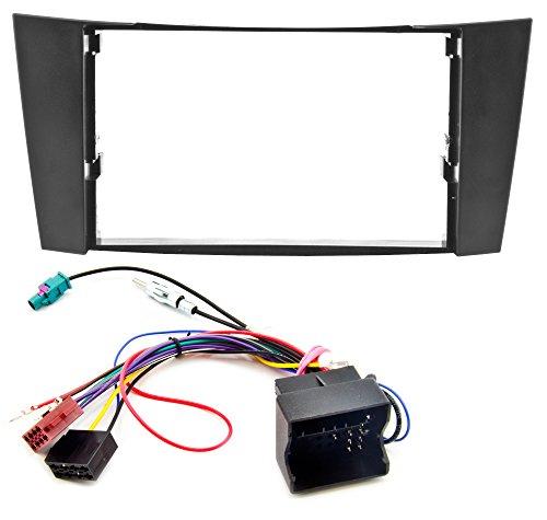 Watermark WM-6102S1 Radioblende Set mit Radioadapter Phantomspeisung für 2DIN Doppel-DIN Autoradio schwarz