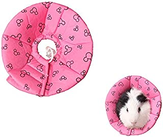 Hamster Rabbit Protection Cone Neck Recovery Collar - Small Animal Pets Elizabethan Collar Anti-Water Bite Sratch Risistant for Guinea Pig Mice Mouse Rats Ferret Squrrel (L, Pink)