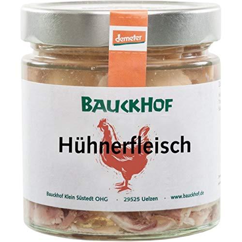 Bauckhof Hühnerfleisch mit Brühe (380 g) - Bio
