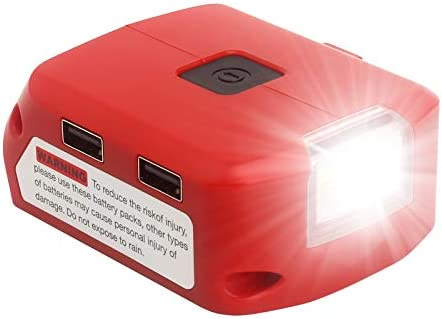 Lasica M18 Portable Power Source with LED Work Light 2 USB Ports and DC Port Replacement for product image