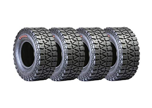 BULLET 8PLY RATED SET OF FOUR 27X10-12 UTV ATV TIRES