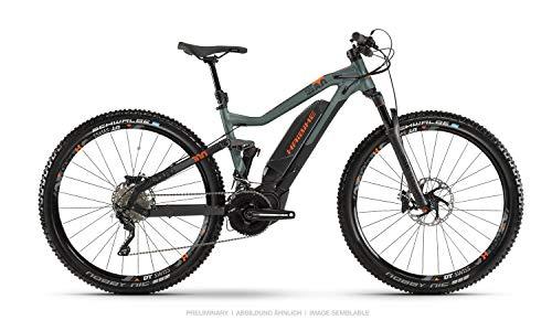 Haibike Sduro FullNine 8.0 - Bicicleta eléctrica de pedaleo asistido, montaña (29 pulgadas), color negro, verde y naranja 2019, talla: XL