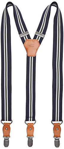 camel active Herren Hosenträger, Blau (Navy Striped 40), One Size (Herstellergröße: OS)
