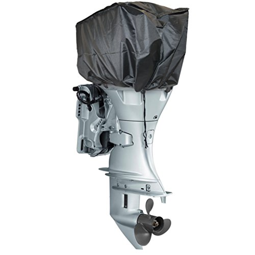 Universal fueraborda Motor, Motor Rib barco Dinghy Top negro resistente al agua 75x 33x 29cm