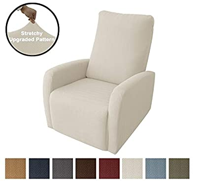 Obytex 4 Pieces Stretch Recliner Chair Cover Polyester and Spandex Upgrade Pattern Couch Covers Dog Cat Pet Slipcovers Furniture Protectors?Machine Washable