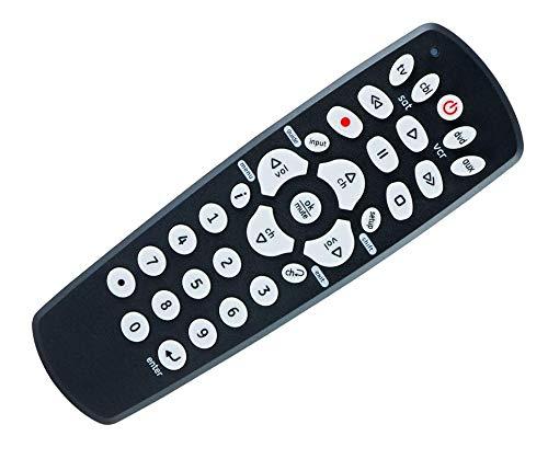 SccKcc El mando a distancia universal es adecuado para Samsung, Vizio, LG, Sony, Sharp, Roku, Apple TV, RCA, Panasonic, Smart TV, reproductor de streaming, Blu-ray, DVD, 4 dispositivos, negro, 34708