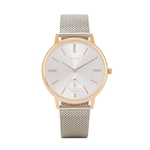 Parfois - Reloj De Pulsera Correa Malla Metálica - Mujeres