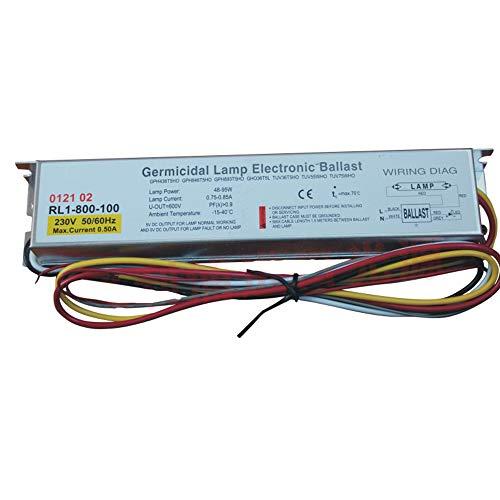 TEPRO RL1-800-100 220-240V 40-100W Entkeimungslampe Elektronische Vorschaltgeräte für UV-Lampe GPH436T5HO GPH846T5HO GPH893T5HO GHO36T5 TUV75WHO TL100W