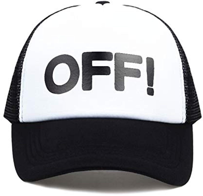 Chlally Letters Print Baseball Cap Trucker Hat for Women Men Unisex Mesh Adjustable Size Black