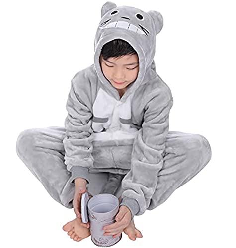 DEMIN Niños Totoro Onesies Pijamas, Niña Traje Disfraz Animal Pyjamas, Ropa de Dormir Halloween...