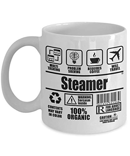 SnowLion Steamer Multi Tasking Problem Solving Requires Coffee Will Travel,gift Ceramic Coffee Mug for dad, mom, best friends