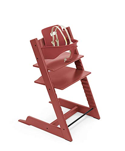 Stokke Adjustable Ergonomic 2019 Tripp Trapp High Chair & Baby Set (Warm Red)