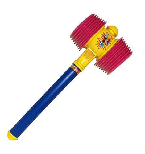 Karnevalsbud - Clown Kostüm Zubehör- quietschender Hammer Clownskostüm- Zirkus, 55cm Mehrfarbig