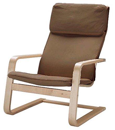 ¡Solo cubierta! ¡La silla no está incluida! El reemplazo de las fundas de la silla de algodón está hecho a medida para el sillón IKEA Pello. Color Café