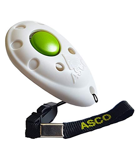 ASCO Premium Clicker para Clicker Training, Perros Gatos Caballos Profesional de Clicker, Entrenamiento Perros klicker