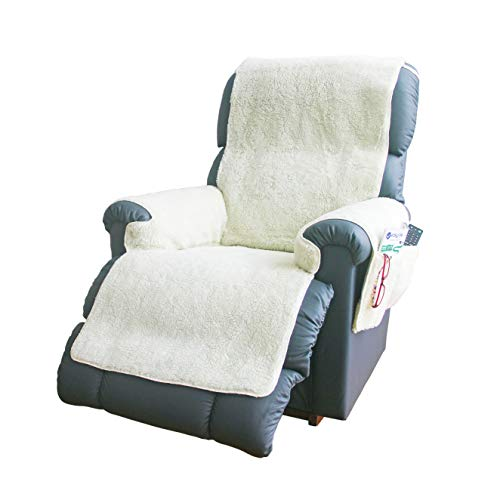 Fleece Recliner Chair Cover | Protects Recliners from Spills And Stains | Slip-Resistant Backing, Elasticated Straps To Hold In Position - Chair Covers For Armchairs By Easylife Lifestyle Solutions